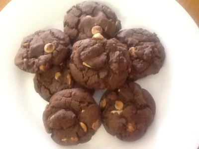 Triple Chocolate Almond Cookies