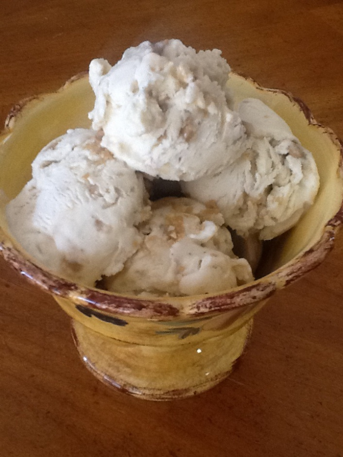 Almond Toffee Ice Cream