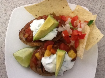 Lighter Potato Skins with Turkey Veggie Chili